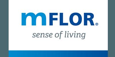 mFLOR PVC vloer logo - showroom Limburg
